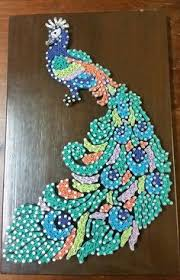 Colourful Peacock String Art Wall