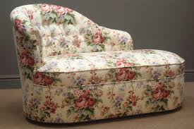 Small Button Backed Chaise Longue, Upholstered In A Floral ... Decorating Lovely Chaise Lounge Slipcover For More Living Room Oversized Round Chair Relaxing In Front Of Wondrous Red Indoor Victorian Style Farmhouse Accent Chairs Birch Lane Vintage Carved Swan Barrel Back And Tufted Dollhouse Fniture Boudoir Upholstered In Floral Print Sateen 1930s Or 1940s 1 Scale France Son Lighting Home Decor Small Blue Floral Chaiselongue Antique Rushseated Elegant White Leather With Bellas Gone This Cottage Chic Chaise Lounge Is Upholstered A Durable