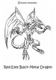 Black Metal Dragon 2 Coloring Page