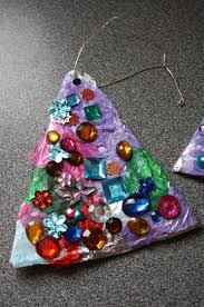 Finished Tin Foil And Christmas Tree Ornaments