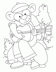 Rockstar Monkey Coloring Pages