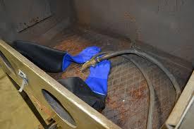 trinco 36 bp2 36 x 24 x 23 dry blast cabinet w dust collector