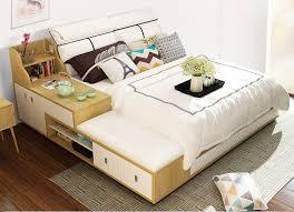 echtes leder bett rahmen moderne weiche betten mit lagerung schublade hause schlafzimmer möbel cama muebles de dormitorio camas quarto