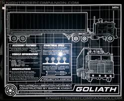 100 Knight Rider Truck GOLIATH SCHEMATIC 8 X 10 METALLIC PHOTO Companion