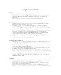 Overview On Resume Sample Summaries Examples Of Summary Qualifications Bullet Points