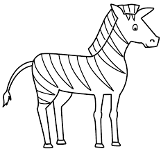Animals Coloring Pages Zebra Printable Pictures