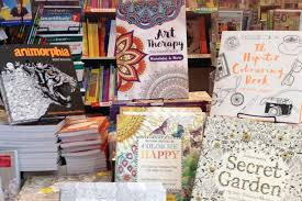 Adult Colouring Books On Display In A Brisbane Bookstore