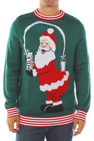 Men s Santa Break the Internet Ugly Christmas Sweater