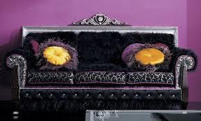 casa padrino luxus barock sofa dunkelbraun schwarz silber lila 215 x 80 x h 120 cm prunkvolles wohnzimmer sofa erstklassische qualität