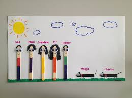Popsicle Stick Family Craft Reunion Pinterest
