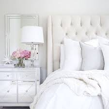 Arhaus Linen Tufted Bed Mirrored Nightstand Target Decor White Wedding Pottery Barn Pink Peonies Neutral