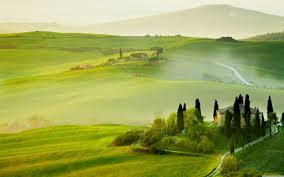 Tuscany Spring Landscape 4K HD Desktop Wallpaper For O Dual