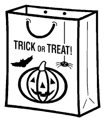 Halloween Coloring Pages From Mommy Gaga A Trick Or Treat Candy Bag