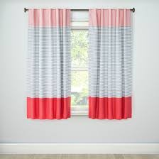 Target Pink Window Curtains by Pink Colorblock Light Blocking Curtain Panel Stripe 95