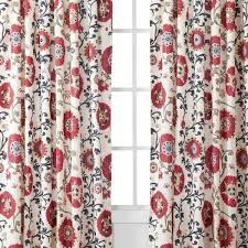 Velvet Curtain Panels Target by Target Mudhut Suzani Vine Window Panel Red 55x84