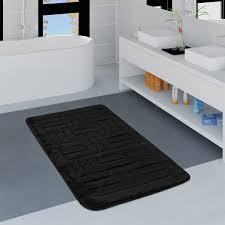 moderne badematte mit rauten design hochflor badteppich in