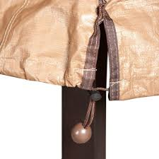 Porch Single Lounge Chair Cover, All Weather Protection, Brown, 34