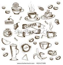 Cute Doodle Coffee Shop Icons