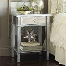 Pier One Hayworth Dresser Dimensions by Hayworth Mirrored Silver Nightstand Pier 1 Imports