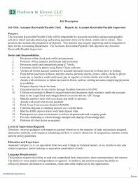 Accounting Clerk Resume Lovely Accounts Receivable Fresh Professional Examples Of