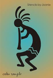 Southwest Decoratives Kokopelli Quilting Co by Kokopelli Stencil Southwest Aztec Flute Desert Player Dance Music