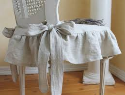 Make This For Chair The Isabella Ruffled Linen Slipcover With Ballerina Ties In Natural 5500 Via Etsy
