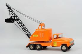 Pressed Steel Tonka Mobile Drag Line Truck.