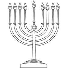 Hanukkah Menorah Labor Day Coloring Page