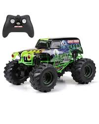 New Bright 61030G 9.6V Monster Jam Grave Digger RC Car, 1:10 ... New Bright Monster Jam Radio Control And Ndash Grave Digger Remote Truck G V Rc Car Jams Amazoncom 124 Colors May Vary Gizmo Toy 18 Rc Ff Pro Scorpion 128v Battery Rb Grave Digger 115 Scalefreaky Review All Chrome Scale Mega Blast Trucks Triangle By Youtube 1530 Pops Toys New Bright Big For Monster Extreme Industrial Co