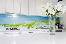 küchenrückwand selbst gestalten mit motiv glasposter