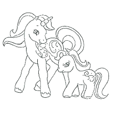 My Little Pony Coloring Pages For Kids Mother And Her Fairy Unicorn A