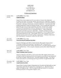 Legal Secretary Resume Skills Sample Professional Experience Assistant
