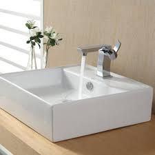 Kraus Vessel Sinks Combo by Square Vessel Sink Faucet Combo