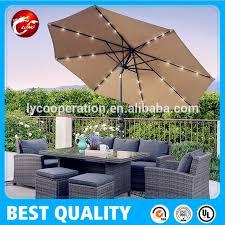 Solar Lighted Rectangular Patio Umbrella by Patio Deluxe Solar Led Light Umbrella Patio Deluxe Solar Led