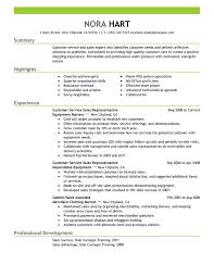 Customer Service Representatives Resume Sample