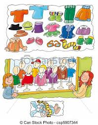 Guys Clothes Shopping Clipart