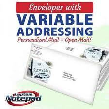 Full Color Variable Data Envelopes