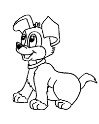 Dogs Picture Of A Cute Dog Coloring Page