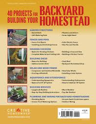 40 Projects For Building Your Backyard Homestead: A Hands-on, Step ... Buy The Backyard Homestead Guide To Raising Farm Animals In Cheap Cabin Lessons A Bynail Tale Building Our Dream Cottage Book Of Kitchen Skills Fieldtotable Knhow Preppernation Preppers Homesteaders Produce All The Food You Need On Just A Maple Sugaring Equipment And Supplies Pdf Part 32 Chicken Breed Chart Home What Can You Do With Two Acre Design