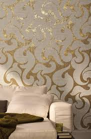tapete gold weiß ornamental modern barock edel linien vliestapete schlafzimmer wohnzimmer oder küche 10 05m x 0 53m made in germany