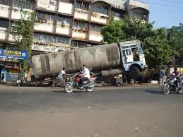 Truck Funny Accident On Road