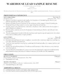 Warehousing Supervisor Resume Sample Qualification For Examples Qualifications Qua