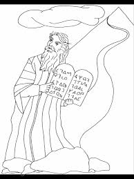 Moses Bible Coloring Pages Coloring Book