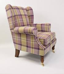 iona thistle tartan wingback chair the millshop tartan