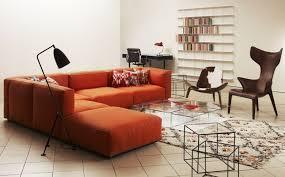 meuble canapé canapé orange un meuble original pour le salon