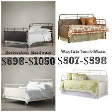Wayfair Metal Beds by Restoration Hardware French Acedemie Iron Bed Decor Look Alikes