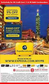 Public Bank Berhad - PB Privileges @ Expedia.com.my Get 10 Off Expedia Promo Code Singapore October 2019 App Coupon Code Easyrentcars 5 Discount Coupon August 30 Off Offer Expediacom Codeflights Hotels Holidays Promotion Free 50 Hotel Valid Until 9 May Save 25 On Hotel Stays Of 100 Or More Discount From For All Bookings Made