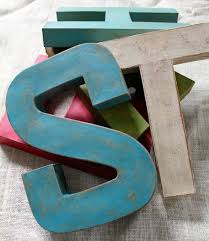 Single 12 Letter Hand Painted Vintage Style Industrial