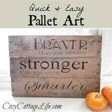 Quick Easy Pallet Art