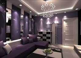 Grey And Purple Living Room by Purple Walls Purple Walls And Purple Sofa For Living Room Design